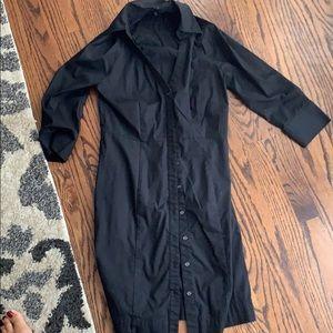 Black Express shirt dress